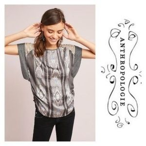 New Anthropologie Crochet Lucine Tee Size Small